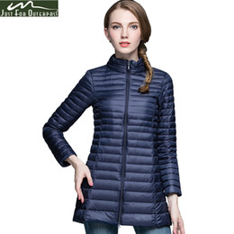 a7153a71ddf26 2019 Brand Casual 90% White Duck Down Jacket Women Stand Collar Ultra Light  Female Autumn Winter Warm Long Down Coat Plus Size Parkas