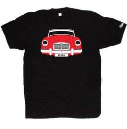 T-shirt PERSONALIZADO HTees-MG MGA conversível cupê roadster Pick car color plate top frete grátis t-shirt em Promoção