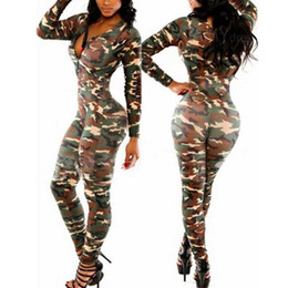 a03f8e2ac6d Wholesale- Sexy One Piece Outfits Bodysuits for women Bodysuit Rompers  Womens Camouflage Bodycon Jumpsuit Lady Rompers Combinaison Femme