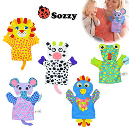 $enCountryForm.capitalKeyWord NZ - Modern Cartoon Baby Toy Finger Puppets Hand Puppet Doll Animals Gloves For Kids Fast Shipping WJ365