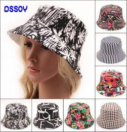 $enCountryForm.capitalKeyWord Canada - Designer Cotton Canvas Foldable Bucket Hat For Adults Ladies Womens Packable Summer Sun Flower Print Plaid Striped Beach Caps Fishing Visors