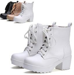 $enCountryForm.capitalKeyWord Canada - Cosopaly Mori girl's short Martin boots Black and white dancing Thick with Universal Harajuku Round Head
