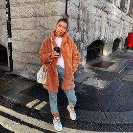 $enCountryForm.capitalKeyWord Australia - New Women Streetwear Brown Fashion Slim Fur High Waist Turn down Collar Coat
