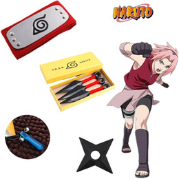 China Japan Anime Naruto Hokage Sakura Haruno Halloween Cosplay Accessories Prop Headband Necklace Plastic Props Toys Boxed suppliers