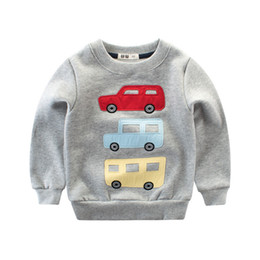 classic car novelties 2019 - Spring and Autumn New Products Car Pattern Wholesale Children's Wear Boys Sweater Fleece Spring Middle School Child