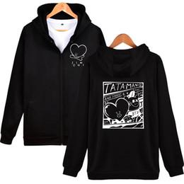 Male hoodie black online shopping - BTS Mens High Street Hip Hop Hoodies Jim One Letters Printed Streetwear Sweatshirts Male Casual Pullover