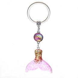 $enCountryForm.capitalKeyWord Canada - Fashion Drusy Druzy keychain Mermaid Key Rings Fish Scale Charms Fishtail Keychain bag Car Keyring Jewelry For women