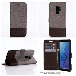 cow apple 2019 - For One Plus 6 5 5T Galaxy (A6 A8 Plus J6 J8)2018 Retro Jean Cow Wallet Leather Case Dual Color Cover Hybrid ID Card Fli