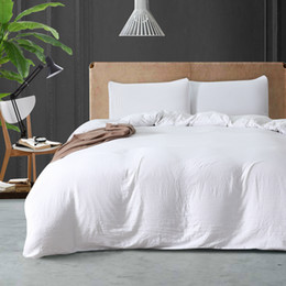 $enCountryForm.capitalKeyWord NZ - Simple Style 2018 Sale Polyester Cotton Hotel 3Pcs Duvet Cover Set Twin Queen King Duvet Covers Home White Bedding Set