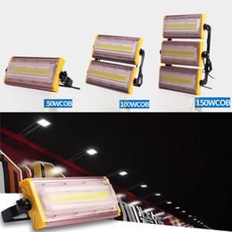 Lumières d'inondation de LED 50W 100W 150W AC85-265V ÉPI puce IP66 imperméable à l'eau d'inondation extérieure lampe cour éclairage de jardin