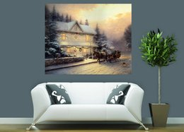 Famous oil Figure paintings online shopping - Thomas Kinkade Famous Landscape Oil Painting Reproduction High Quality Giclee Print on Canvas Modern Home Art Decor TK0391