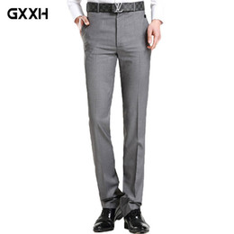 size 35 pants NZ - 2018 Summer new youth Casual Suit Men's trousers Slim British Business Straight trousers Korean version of the hot pants Size 35