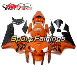 China Complete Fairing For Honda CBR600RR F5 Year 2005 2006 05 06 New ABS Plastic Motorcycle Fairing Kit Gloss Orange Black Pattern Cowlings cheap pattern motorcycle fairings suppliers