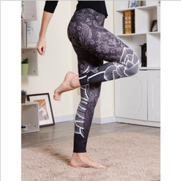 c37ac5483e Trees prinTed leggings online shopping - Ladies Fashion Casual Lotus Print High  Waist Hip Fitness Leggings