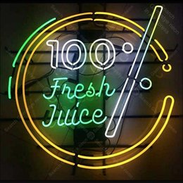 bar signs for home 2019 - Neon Sign for Fresh Juice Neon Bulb sign Restaurant handcraft Real Glass tube windows Dropship bar lights Home Decor lam