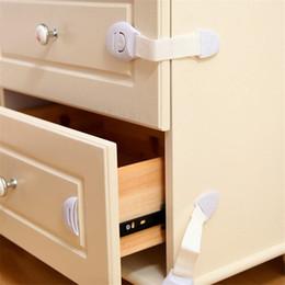 Drawer Kids NZ - Hot Sale Kids Drawer Lock Baby Safety Lock Adhesive Door Cupboard Cabinet Fridge Drawer Safety Locks Safety Locks Straps