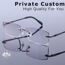 fc146cf6e7a New Customrized Korean Reading Glasses Men Rimless Frames For Progressive Glasses  Male Prescription Spectacle For Presbyopia