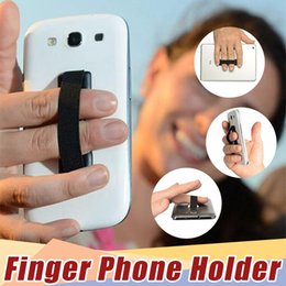 phone handle stick NZ - elastic band stuck to mobile phone & strap Touch Holder Finger Ring handle device sling grip for iphone 8 X Cellphone 300pcs lot
