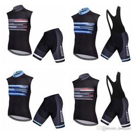 $enCountryForm.capitalKeyWord Canada - GIANT team Cycling Sleeveless jersey Vest (bib)shorts sets Men MTB Bicycle Wears 3D Gel Pad Bib Shorts Bike Clothes kits F0207