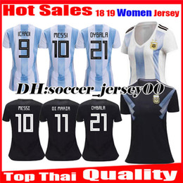 Women 2018 2019 World Cup Argentina girl Soccer Jersey 1819 MESSI DI MARIA  AGUERO KOMPANY DYBALA Higuain Home away ICARDI football shirts 69f7f9e25