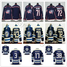 2018 New Season Columbus Blue Jackets Hockey 3 Seth Jones 17 Brandon  Dubinsky 38 Jenner Boone 71 Nick Foligno 72 Sergei Bobrovsky Jerseys  foligno jersey on ... 009dfba99