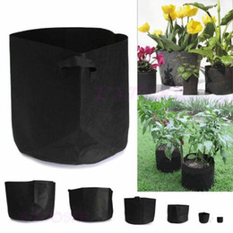 Discount garden pot sizes Grow Bags for Plants Planting Bag Large Size Non-woven Fabric Pots Plant Pouch Root Container Flower Vegetable Growing P