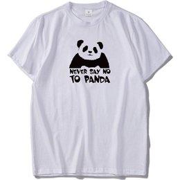 f37d4abd Never Say No To Panda Tshirt Chinese Animal Tee High Quality Cotton T-shirt  Male Men Cotton T-Shirt Printed T Shirt top tee