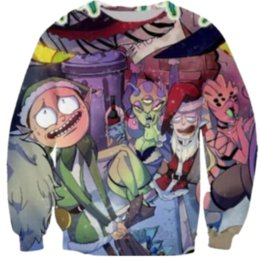 $enCountryForm.capitalKeyWord Australia - New Funny Christmas Rick and Morty Print 3d Sweats Mens Womens Sweatshirts Crew Neckl Jumper Hoodies Unisex Pullovers Outwears B83