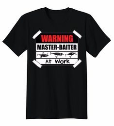 $enCountryForm.capitalKeyWord Australia - Warning Master Baiter At Work Lures Funny Cool Fish T-Shirt Tee Good Quality Brand Cotton Shirt Summer Style Cool Shirts