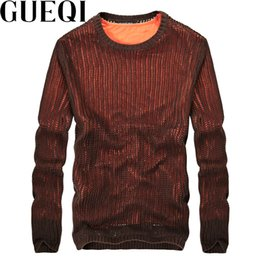 Man Wear Sweaters Canada - GUEQI Brand Men Fashion Knitted Sweaters Size M-2XL Fake Two Pieces Hollow Out Design Man Warm Casual Pullovers Black Wear