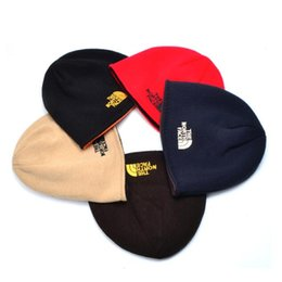 Wholesale A Autumn winter men and women popular logo sets more add wool warm earmuffs knitting hat movement fleece hat