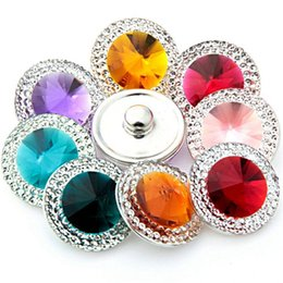 $enCountryForm.capitalKeyWord Australia - NOOSA Ginger Snap Chunks Acrylic Bling Bling 18MM Glass Snap Buttons DIY Snap Bracelet Jewelry Gift