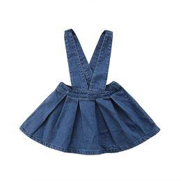 da19ce561051 Summer Fashion Newborn Toddler Kid Baby Girl Children Clothing Denim Solid  Overalls Skirt Party Clothes