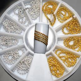 $enCountryForm.capitalKeyWord NZ - 2018 New Design Exquisite Nail Glitter Rhinestones Nail Art Tools Gold Silver Jewelry Manicure Metal Bead Chain Sticker Hot Sale