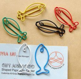 $enCountryForm.capitalKeyWord Canada - colorful fish Metal Bookmarks colorful Paper clip Page Holder 35*15MM Semiquaver paper office materials School supplies mxed order wholesale