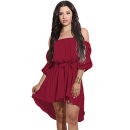 5e2e71aa7d 2019 New Arrival Ladies Dress Women's Sexy Off the Shoulder Strapless Solid  Bandage Fashion Dress LJ9555Y