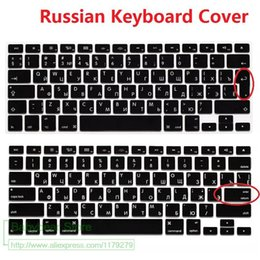 Macbook Retina 13 Inches Australia - US EU Euro RU Russian Letter Keyboard Cover For Macbook Air Pro Retina 13 15 Laptop Russia Protector skin For iMac 13.3 15.4