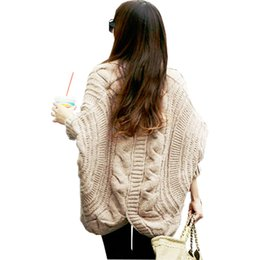 $enCountryForm.capitalKeyWord NZ - Cardigans Sweaters 2018 Women Fashion New Arrive Autumn And Winter Female Clothes Bat Sleeve Knitting Pluse Size Sweater 903