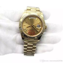 Men Wrist Watches Date Australia - Luxury Gold President Day-Date Sapphire Cystal Geneva Men Watches Automatic Mechanical Movement Male Wrist Watch