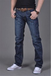 cheap lights for sales NZ - Straight Men 'S Fashion Jeans Hot Jeans for Young Men Sale Men 'S Pants Casual Slim Cheap Straight Trousers Luxury Jeans