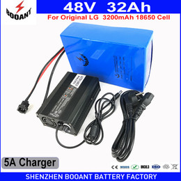 lg li ion batteries 2019 - BOOANT 48V 32AH 1800W Use original LG 18650 Li-ion Battery for Bafang Motor 1800W With 50A BMS 5A Charger EU US Duty Fre