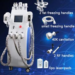 New slim ultrasoNic cavitatioN machiNes online shopping - 3 Freezings handles slimming cryotherapy machine new ultrasonic liposuction cavitation lipo laser rf vacuum fat freezing zeltiq