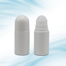 deodorant bottles wholesale UK - New Arrival 50ml Plastic Roll On Liquid Essential Oil Bottle, 50cc Deodorant Roll-on Container With Roller LX3189