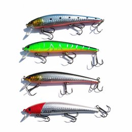 Lure Wholesalers NZ - Lures Floating Minnow Fishing Lure Artificial Hard Bait Fishing Tackle 12cm 17g Laser Bright Coating Color