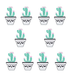 Wholesale kids clothes patches for sale - Group buy Sew Embroidery Plants Patches for Clothing Iron on Applique Cartoon Stripe Patch for Kid Jacket Accessories Funny Cactus
