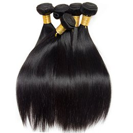 Wholesale brazilian braiding hair online shopping - Brazilian Virgin Hair Bulk Straight Best Quality Malaysian Indian Peruvian Human Braiding Hair Kinky Straight Mink Brazilian Hair Weaves