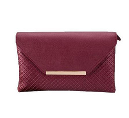 $enCountryForm.capitalKeyWord UK - 2018 Fashion Classic Small Black Plaid Hand Women Handbags Messenger Bag Solid Envelope Shoulder Bag Women Evening Clutch