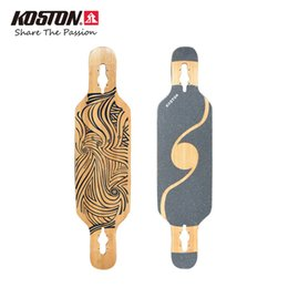 Wholesale Koston Professional Drop Through Long board Deck Dancing Board Walking inch Mixed Material High Quality Skateboard Decks