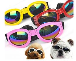 Sunglasses Sales NZ - Hot Sale Foldable Pet Dog Glasses Medium Large Dog Pet Glasses Pet Eyewear Waterproof Dog Protection Goggles UV Sunglasses