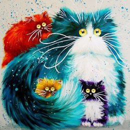 Diamond Paintings Tools NZ - A1287 Cat 20*20cm 5D Diamond Embroidery painting 25styles Home Decor Diamond Cross stitch 100% Resin Tool dril Painting Mosaic Needlework